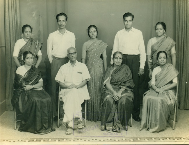 With Parents & Siblings; extreme right;
